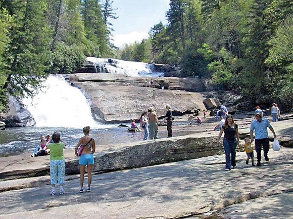Tripe Falls is a popular attraction at DuPont State Recreational Forest. File photo
