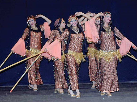 The National Folkloric Dance Troupe of Egypt.