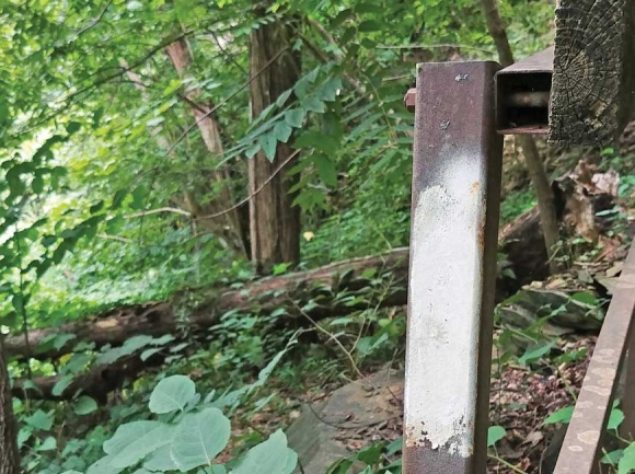 An Appalachian Trail marker.