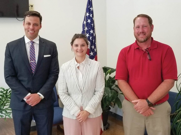 Candidates sign up to run in Canton. Pictured from left are Canton Mayor Zeb Smathers, Alderwoman Kristina Smith and Alderman Tim Shepard. Donated photo