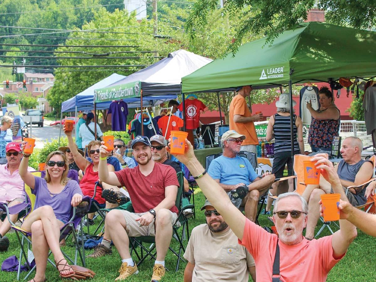 Hook, Line & Drinker Festival at Bridge Park in Sylva.