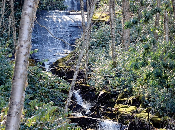 Blackrock Falls tumbles through the property that Sylva is considering adding to Pinnacle Park. Donated photo