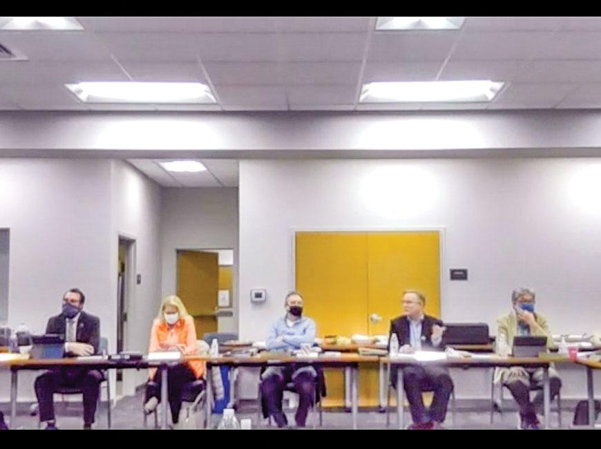 The Town of Waynesville Board of Aldermen met last week for budget talks. Donated photo