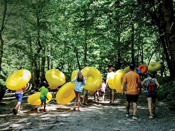 Heavy marketing efforts have drastically increased the number of tourists visiting Deep Creek and other Swain County locations. File photo