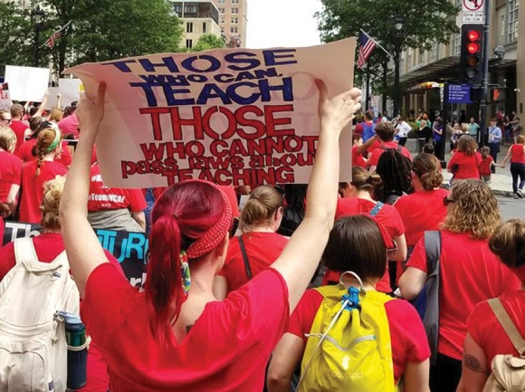 An estimated 15,000 educators took to the streets in Raleigh May 16 to rally for more funding for public education. Donated photo