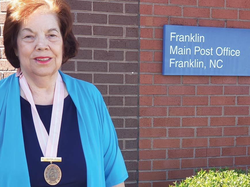 Judy Hughes of Franklin is the new Colony Governor for The Society of Mayflower Descendants of WNC. Donated photo