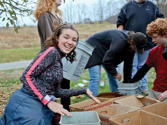 Bringing in the harvest: Despite drought, students and farmers join forces to feed Haywood's hungry
