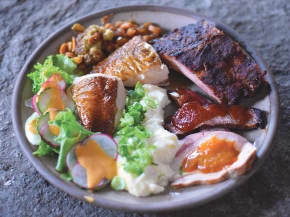 A dinner plate at the recent 'Barbecue Night' at The Swag. Garret K. Woodward photo
