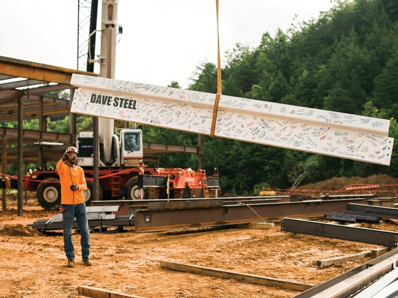 Final beam placed at new hospital