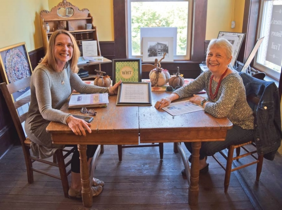 Mary Polaski (left) and Barbara McRae serve as co-chairs for the Women's History Trail leadership team in Macon County. Jessi Stone photo