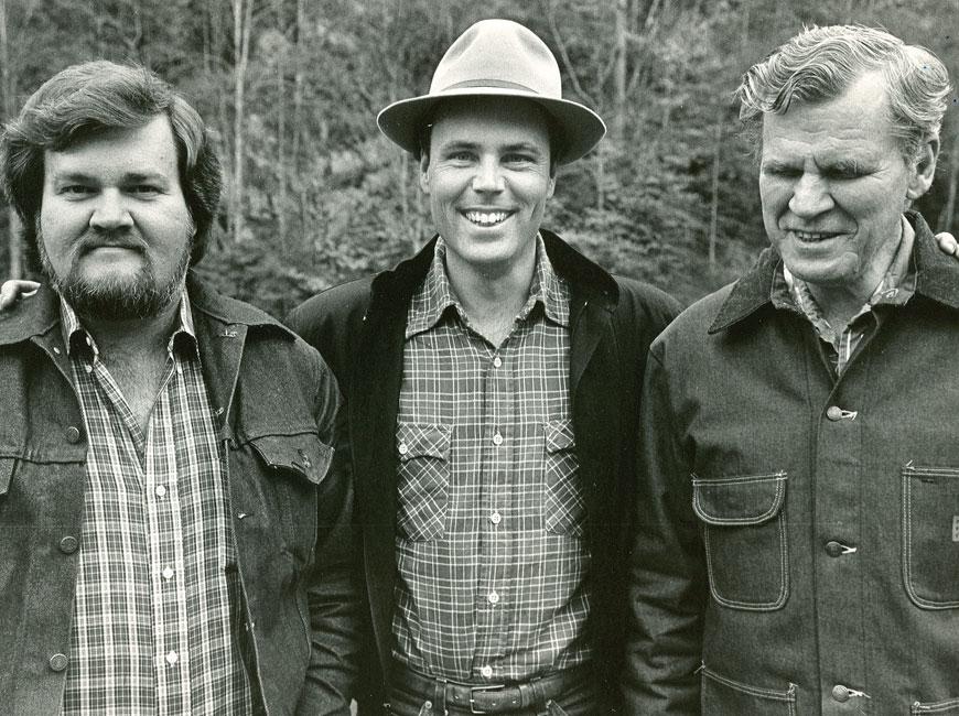 Merle Watson, David Holt and Doc Watson.