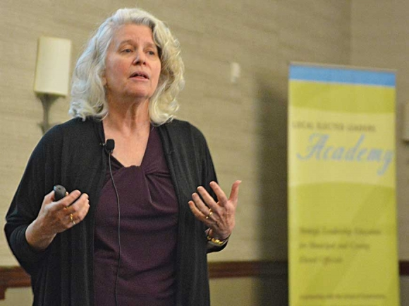UNC School of Government professor Frayda Bluestein lectures elected officials during a conference Feb 23. Cory Vaillancourt photo