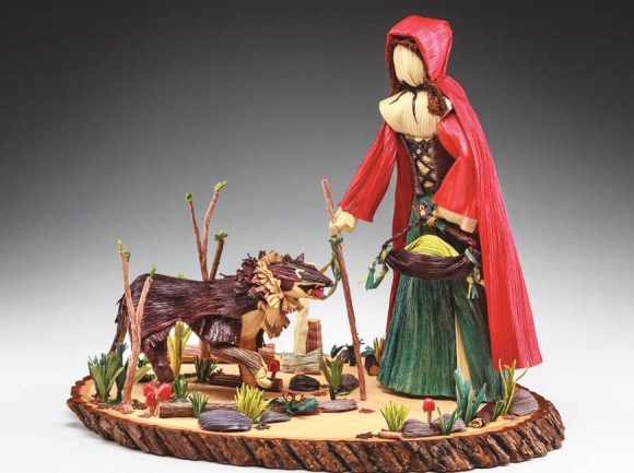 Taking the longtime Appalachian craft of corn shuck dolls to a whole new and creative level, Karen Collis can spend upwards of 70 hours on one piece, many of which being sold to collectors around the world.