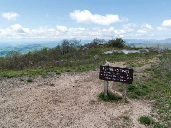 The new state forest includes 9 miles of the 76-mile Foothills Trail.