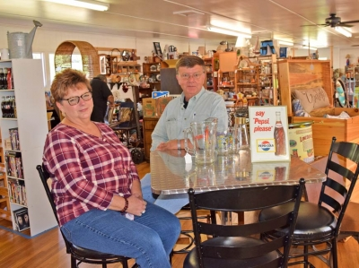 Tommy and Lynn Nicholson pride themselves on customer service at The Classy Flea in Franklin. Jessi Stone photo