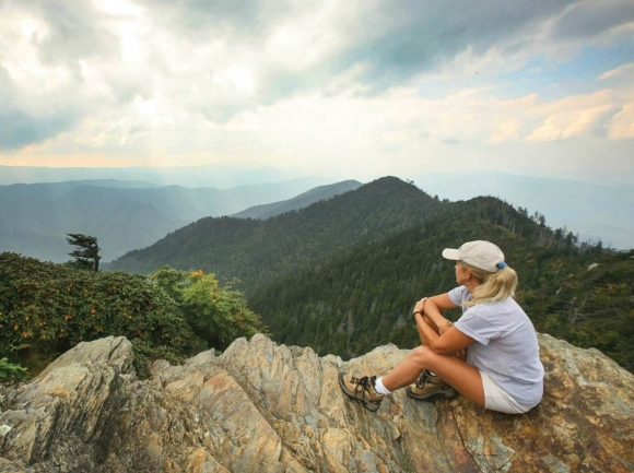 The view from Mt. LeConte. Courtesy Swain TDA