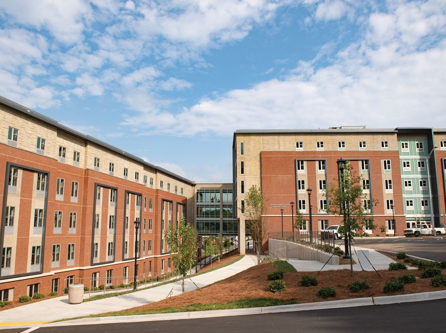 The Lavern Hamlin Allen Residence Hall is home to 600 students. WCU photo