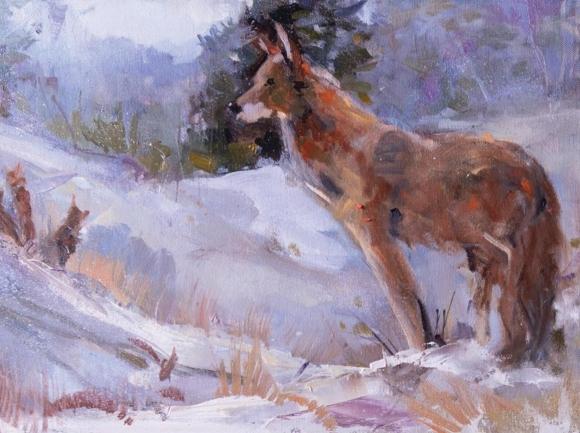 """""""Red Wolf"""" by Sarah Sneeden."""