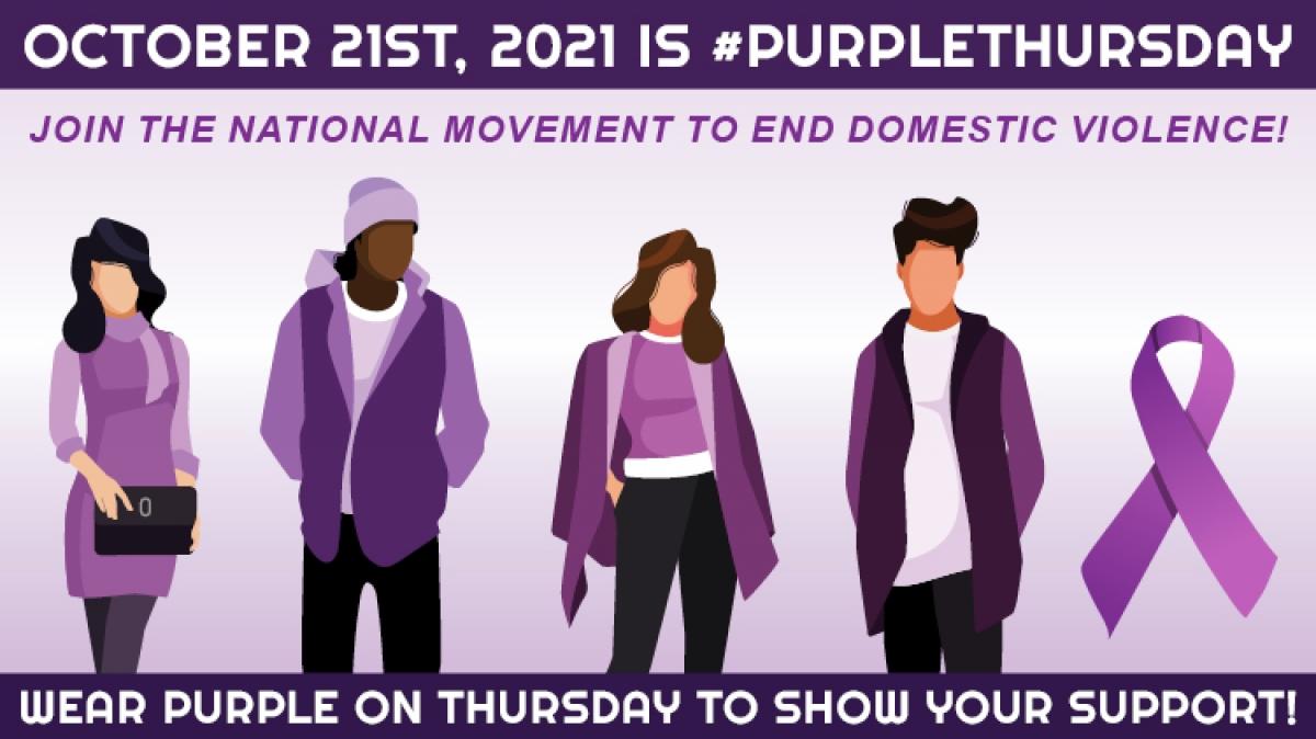 Wear Purple Day on Oct. 21