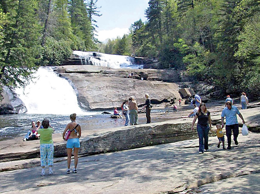DuPont State Recreational Forest is popular for its abundant trails and waterfalls. File photo