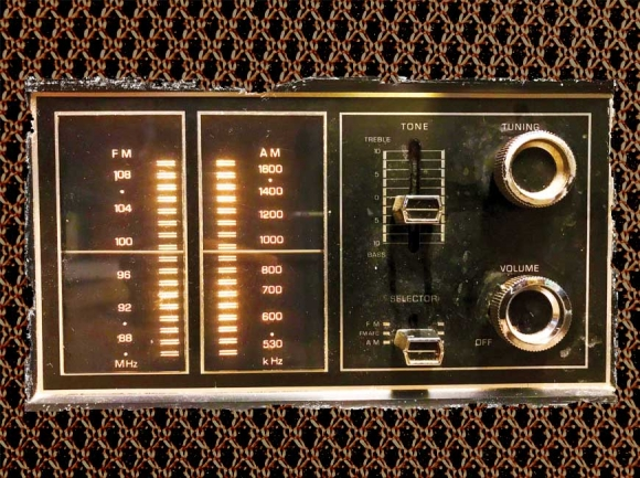 The warm glow of a 1970s-era Panasonic portable radio (top) may have dimmed for most, but the future of terrestrial radio still appears bright. Cory Vaillancourt photo