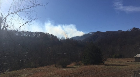 Fire at Cold Mountain exceeds 100 acres