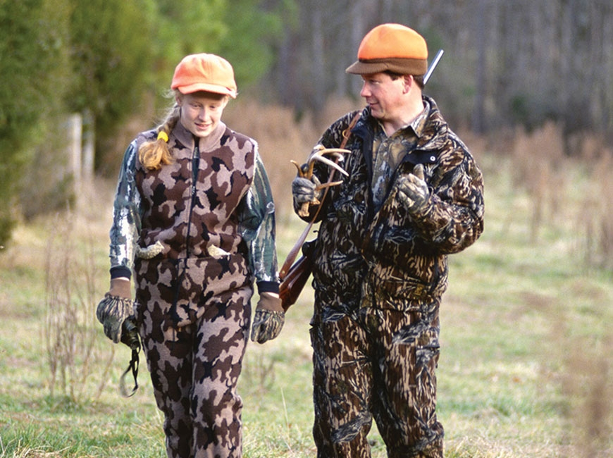 Hunters and anglers should wear blaze orange when heading out to the woods. Missy McGaw/NCWRC photo