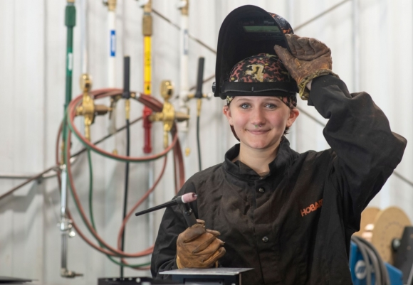 Welding student named Sylva Rotary Student of the Month