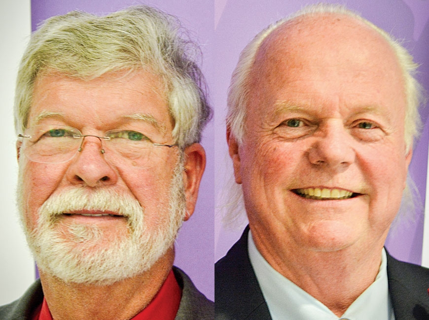 Rep. Joe Sam Queen (left) is seeking his fourth term in the North Carolina House of Representatives. Mike Clampitt defeated Joe Sam Queen in 2016, but lost to him in 2018. Cory Vaillancourt photos
