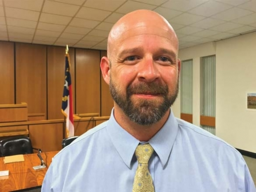 Pictured here in 2017, Jason Burrell has served in Canton administration since 2009.