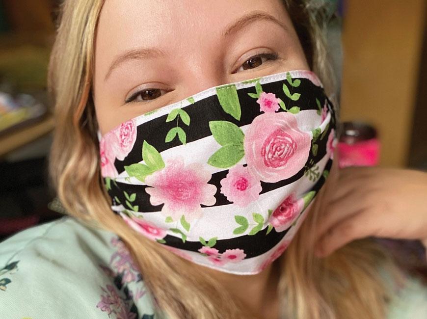 Katlin Roberts masks up for teaching. Donated photo