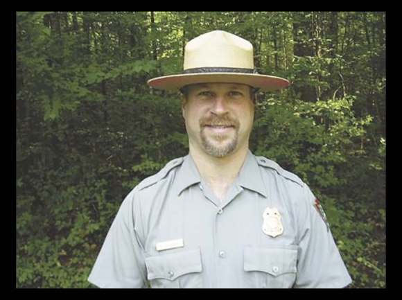 Greg Wozniak appears in a 2009 photograph published in The Saratogan following his selection as chief ranger of Saratoga National Historical Park in New York, previous to his tenure on the Blue Ridge Parkway. Photo courtesy The Saratogan
