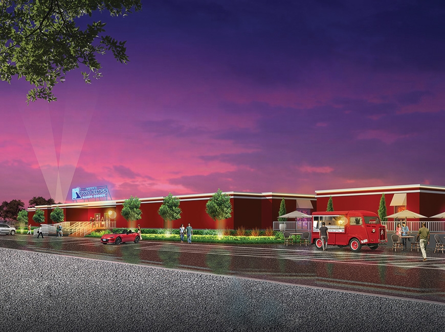 This rendering shows the temporary casino facility the Catawba Indian Nation expects to open in Kings Mountain this summer.