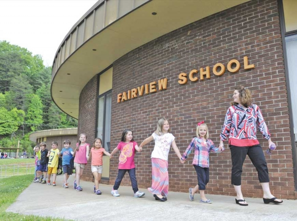 Fairview School is one of four K-8 schools in Jackson County. Some parents would like to see sixth- through eighth-graders together in a middle school instead. Donated photo