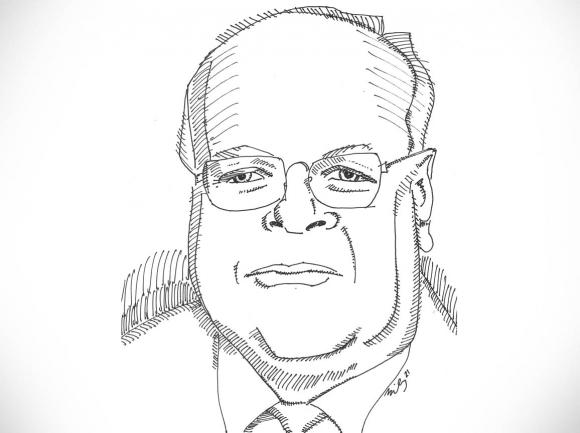 Karl Rove. Andy Bailey illustration