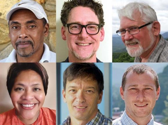 Clockwise, from top left: Danny Allen, Benjamin Guiney, Luther Jones, David Nestler, Greg McPherson and Carrie McBane.