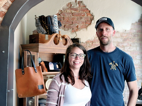 Courtney and Spencer Tetrault established Axe & Awl Leatherworks six years ago as an online business. Now, they are pursuing a much-anticipated dream of opening a storefront in downtown Waynesville. Michelle Harris photo
