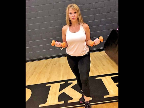 Angel Squirrell teaches classes at Cherokee Fitness Center three times a week. Donated photo