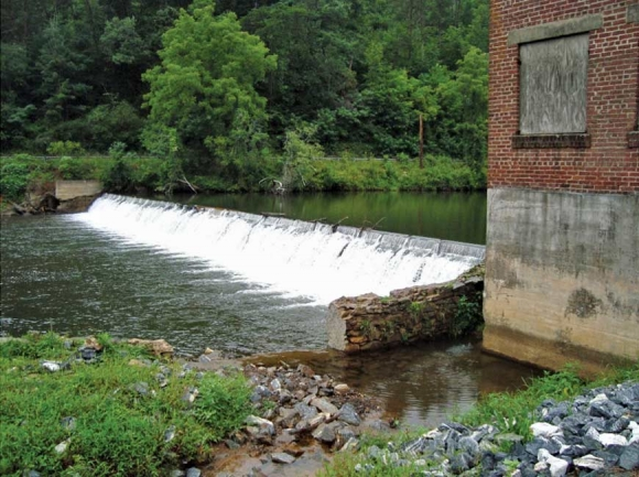 The Cullowhee Dam, built in 1930, straddles the Tuckaseigee River. Donated photo