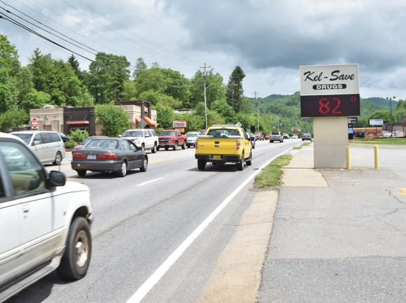 N.C. 107 is Sylva's main commercial corridor, but it's also an increasingly crowded road that's long been in need of updating. Holly Kays photo