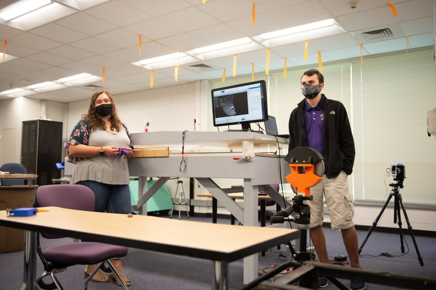 WCU students research which masks work the best