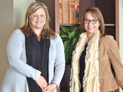 Sylva attorneys Aggie Guy (left) and Kim Carpenter have been working together since 2007. Holly Kays photo