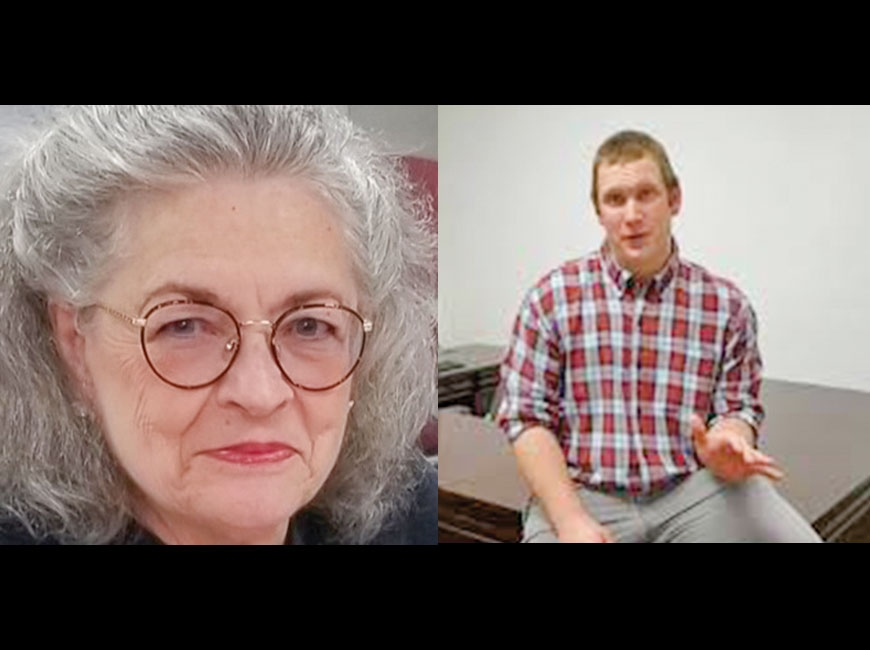 Betty Cloer Wallace (left) and Josh Young.