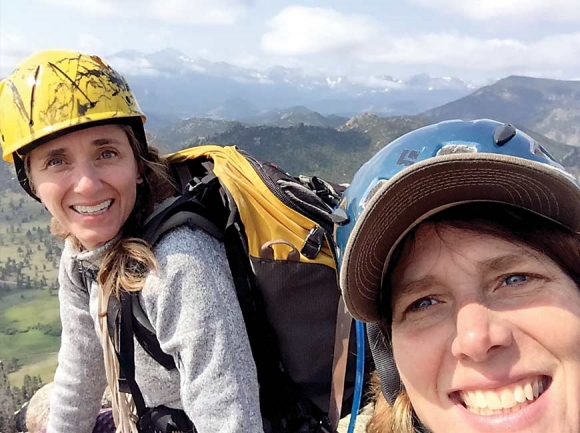 McManus (left) and Miller finish a climb in the mountains near Frisco, Colorado. Donated photo