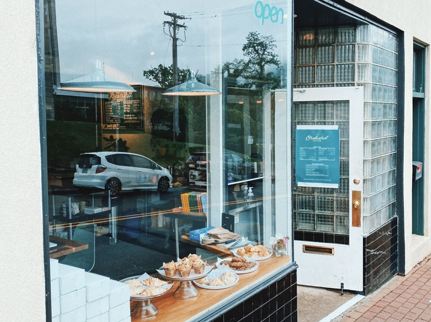 Orchard Coffee moved its bar to the front window to cope with COVID restrictions.