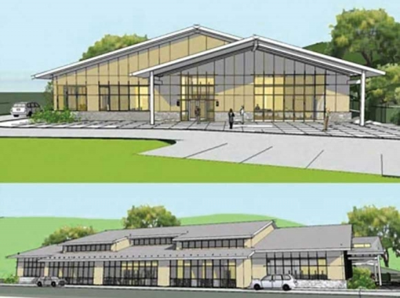 A concept design shows what a new Marianna Black Library could look like if it's constructed on donated land off Fontana Road. Donated graphic