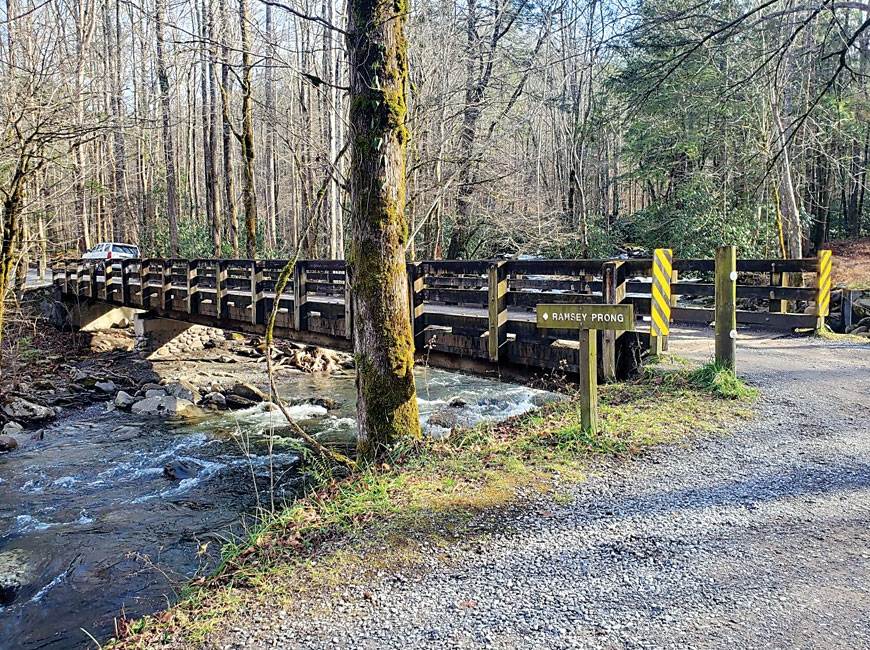 Ramsey Prong Bridge is in need of replacement, but supply delays are extending the project's timeline. NPS photo
