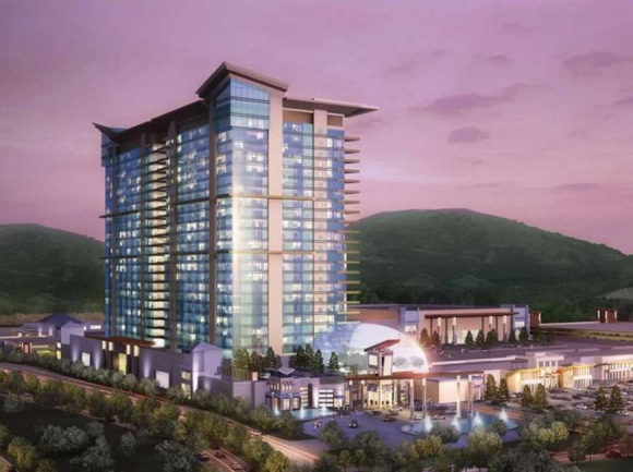 If approved, the casino would be built on a 16-acre property in Cleveland County, employing an anticipated 3,000 people. Catawba rendering
