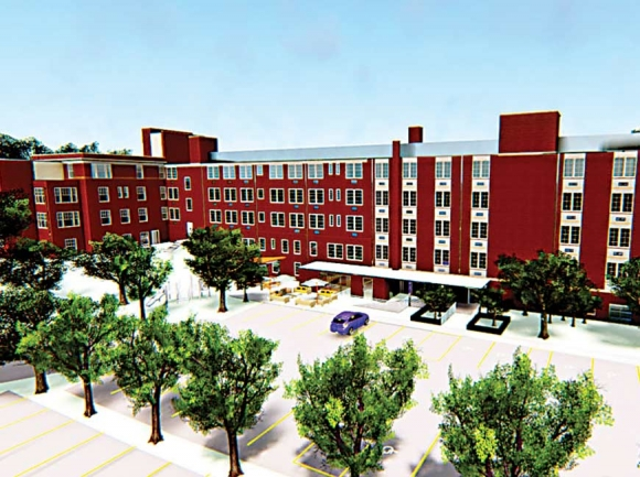 An artist's rendering of what low-income housing might look like at the old Haywood hospital. Donated photo
