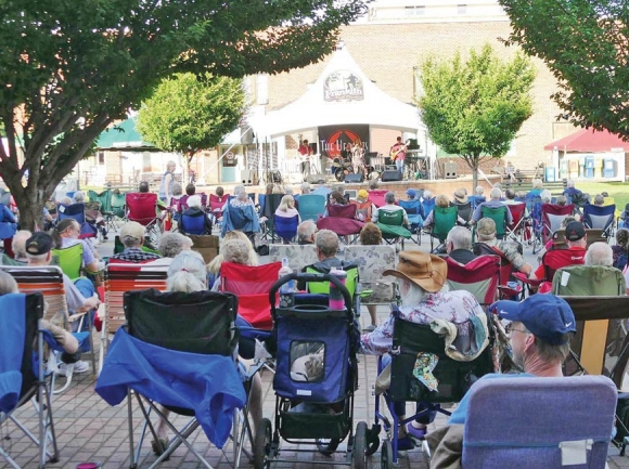 Pickin' on the Square is held every Friday night during the summer at the Franklin Town Square. Donated photo